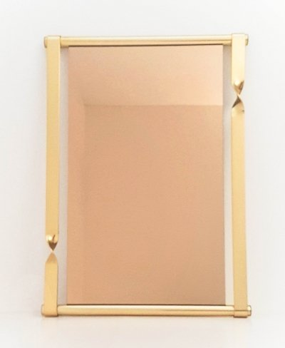Very large bronzed mirror by Luciano Frigerio, 1970s