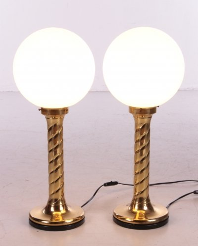 Pair of Table Lamps by Rogo Leuchten, Germany 1970
