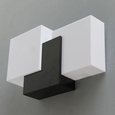 French sculptural modernist wall lamp, late 1950s