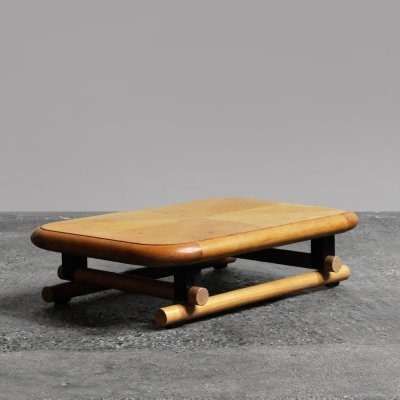 Rare Japanese style low coffee table by Brunati, Italy 1960s