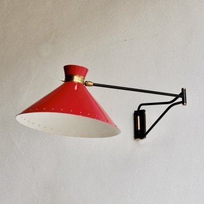 Midcentury French Wall Lamp