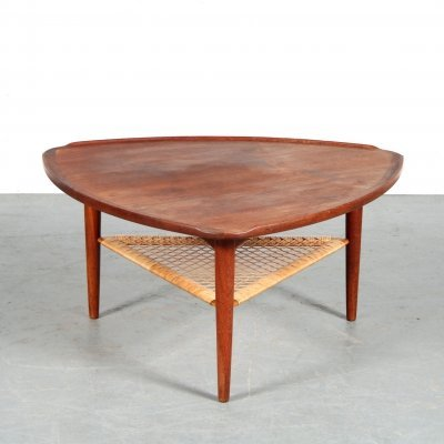 1950s Triangle coffee table by Poul Jensen for Silkeborg, Denmark