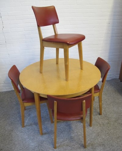 Dining set TB05 from the birch series by Cees Braakman for Pastoe, 1950s