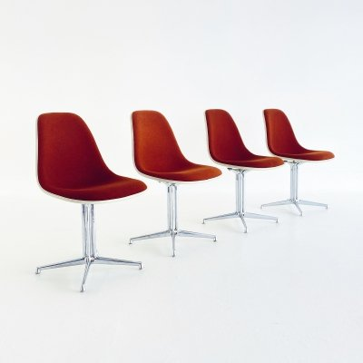 Set of 4 Sidechairs by Charles & Ray Eames for Herman Miller, 1980s