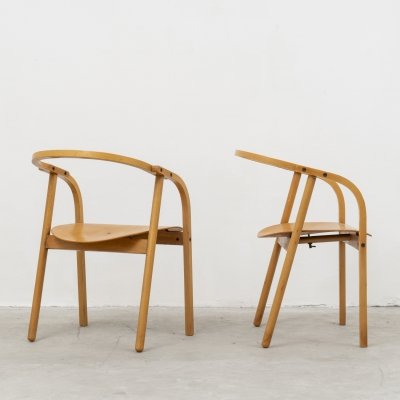 4 chairs mod. 'Otto' by Werther Toffoloni for Ibis, 1981