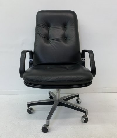 Mid-century design leather office chair, 1970's