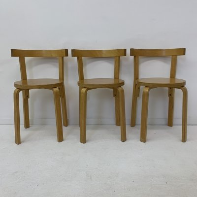 Set of 3 bentwood dining chairs, 1950's