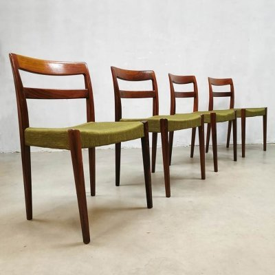 Vintage Swedish design dining chairs by Nils Jonsson for Troeds, 1960s
