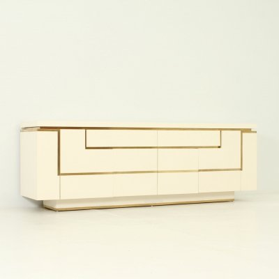 Lacquered Sideboard by Jean-Claude Mahey, France 1970's