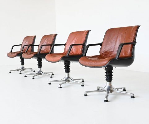 Set of 4 August Froscher chairs by Burkhardt Vogtherr, Germany 1970