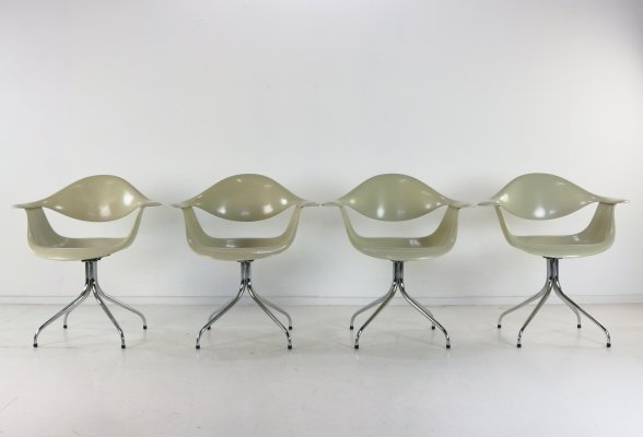 Swag leg 'DAF' armchairs by George Nelson for Herman Miller, 1950s