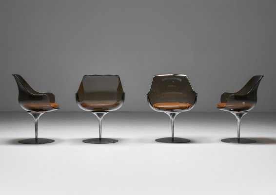 Set of 4 Champagne Chairs by Erwine & Estelle Laverne for Laverne International, 1959
