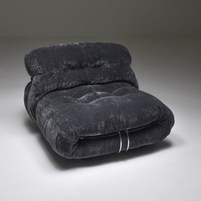 Soriana Lounge Chair by Afra & Tobia Scarpa for Cassina, 1970's