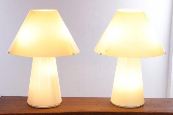 Rare set of Murano Table Lamps by Seguso Gianni, 1970s