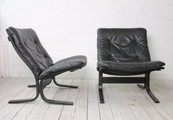 Set of two 'Siesta' Lounge Chairs by Ingmar Relling for Westnofa, 1960s