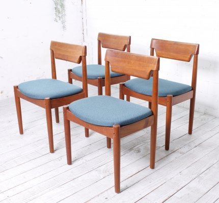 Set of 4 Teak Dining Chairs by Grete Jalk for Glostrup, 1960s