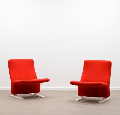 Pair of Concorde / F789 chair by Pierre Paulin for Artifort, 1960s
