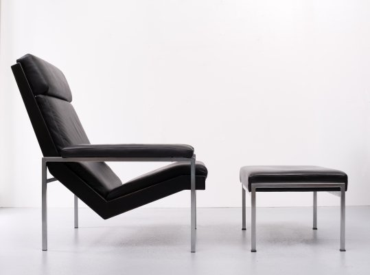 Rob Parry Lotus Lounge chair & footstool, 1960s