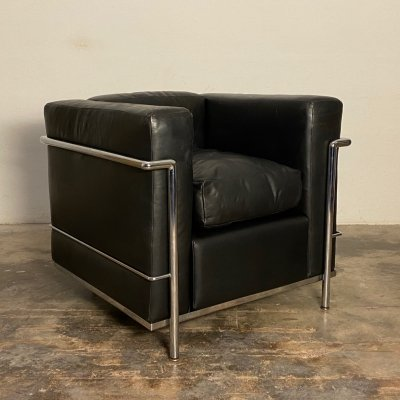 Early LC2 lounge chair by Le Corbusier & Charlotte Perriand for Cassina, 1960s