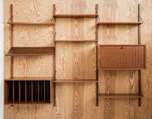 Midcentury Royal wall system in teak by Poul Cadovius, 1960s