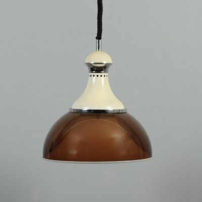Vintage Stilux Milano 'rise & fall' pendant lamp with double acrylic shade
