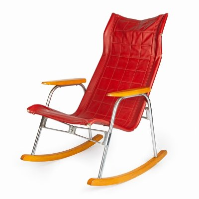 Collapsible rocking chair by Takeshi Nii, 1960s
