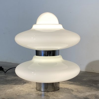 Vintage space age UFO table lamp, Italy 1970s