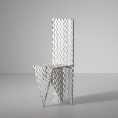 Sculptural Perforated Metal side chair, 1970s