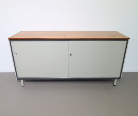 Steel Mid-century sideboard with sliding doors by André Cordemeyer, 1962