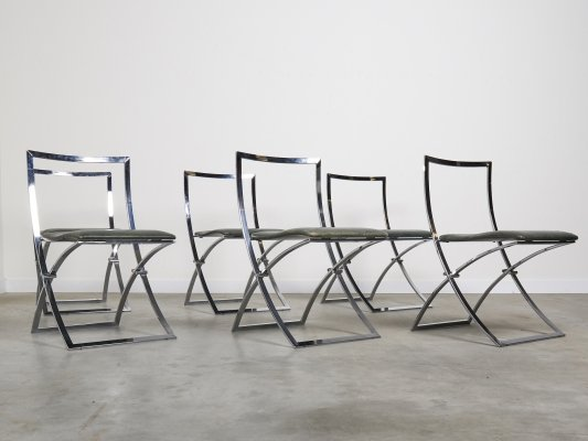 Set of 6 dining chairs by Marcello Cuneo, Italy 1970s