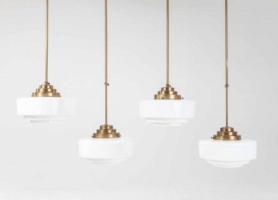 Stepped Opaline Pendant Lamps