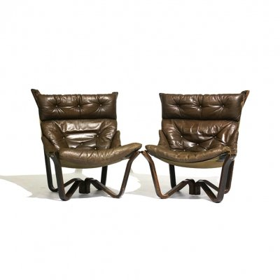 Pair of Viking lounge chairs by Jim Myrstad for Brunstad, 1970s