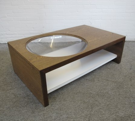 Vintage Space age wengé coffee table, 1960s