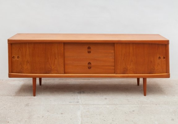 Sideboard with Sliding Doors by H. W. Klein for Bramin Møbler, 1959