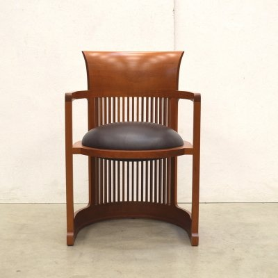 Barrel arm chair by Frank Lloyd Wright for Cassina, 1990s