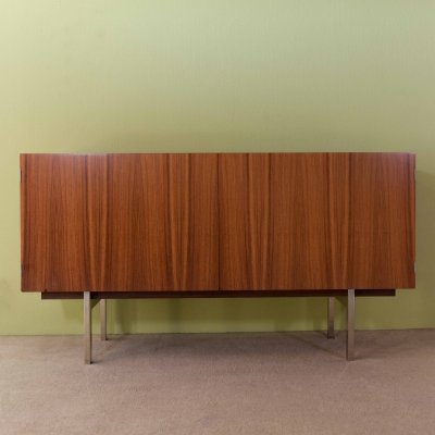 Rosewood sideboard with interior in maple wood, 1970s