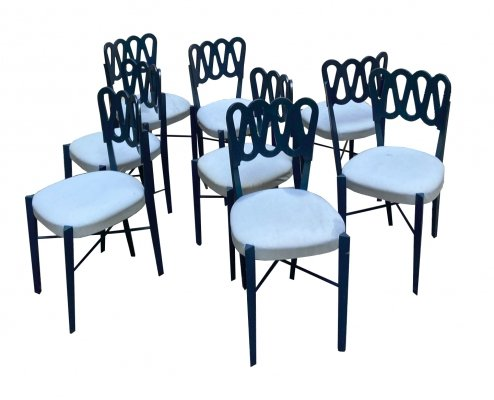 Set of 8 Chairs Mod.969 by Gio Ponti for Montina, 1950