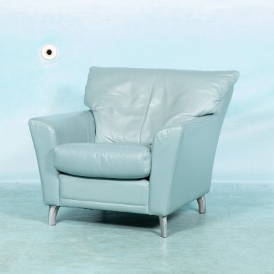 Vintage Leolux armchair in leather, 1980s