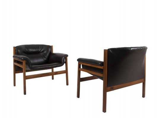 Set of Two Italian Vintage Armchairs, 1960s