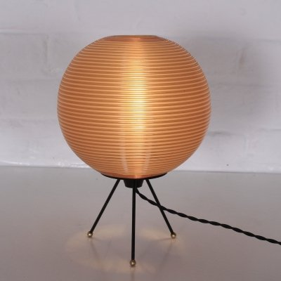 Hollow plastic Model R1 (1st of the series) lamp by Rotaflex, 1950's