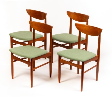 Vintage Danish dining chairs by E.W. Bach for Skovby Mobelfabrik, 1960's