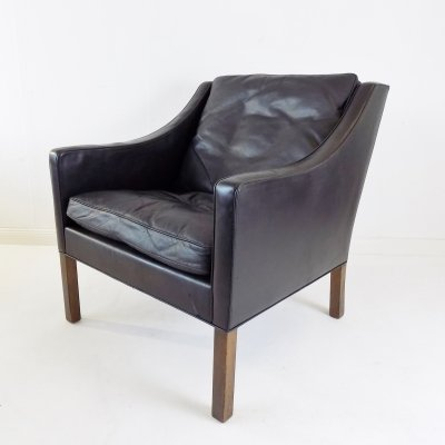Fredericia 2207 leather armchair by Borge Mogensen