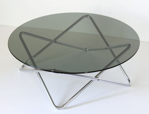 1970s vintage space age round coffee table