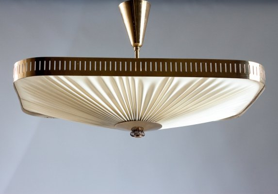 1950s Finnish ceiling lamp by Itsu