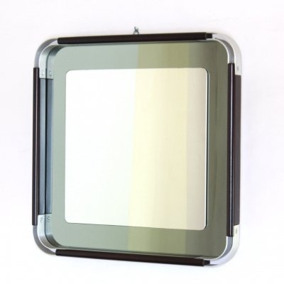 1970s vintage space age square wall mirror