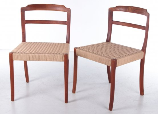 Danish Design pair of dining room chairs by Ole Wanscher, 1960s