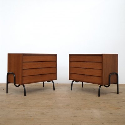 Two chest of drawers by Mobilor France