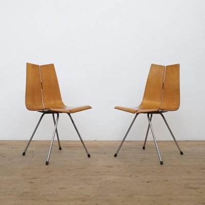 Set of two Hans Bellmann plywood chairs