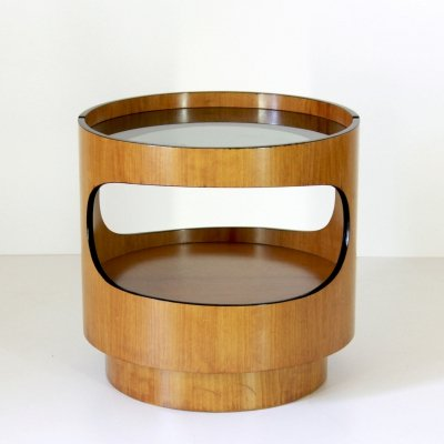 1970s vintage round coffee table