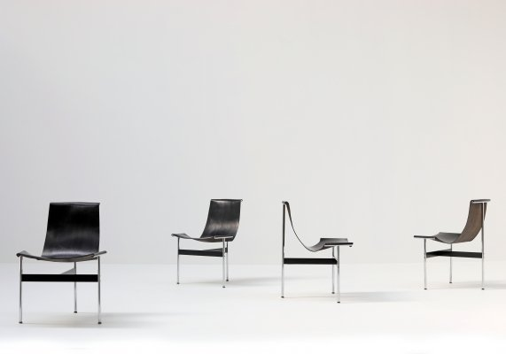 Set of 4 T-Chairs by Ross Littell & William Katavolos for ICF Italy, 1960s